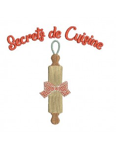 Instant download machine embroidery design family secrets rolling pin