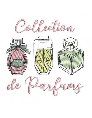 embroidery design bottle parfum