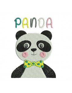 Embroidery design panda candy