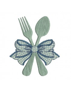 Instant download machine embroidery cutlery