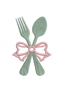 Instant download machine embroidery cutlery applique