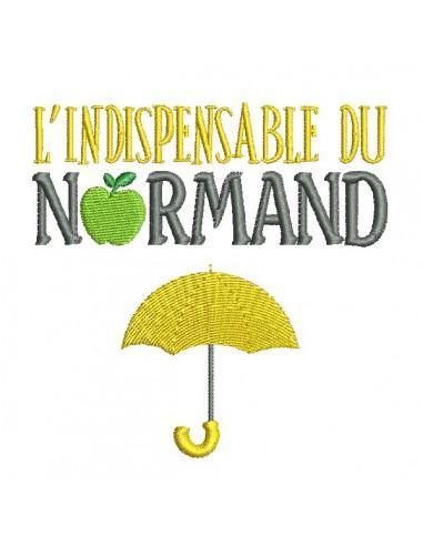 Motif de broderie machine parapluie du normand