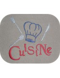 Instant download machine embroidery chef's kitchen