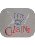 Motif de broderie machine cuisine couverts