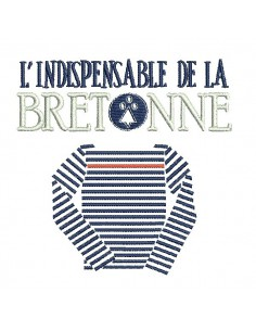 Instant download machine embroidery  Breton sailor