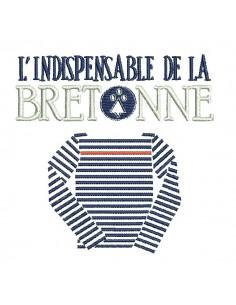 Instant download machine embroidery  Breton sailor