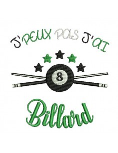 Motif de broderie machine billard