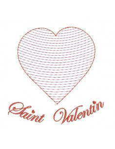 Instant download machine embroidery  heart  mylar