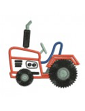 Instant download machine embroidery applique tractor