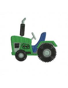 Motif de broderie machine tracteur