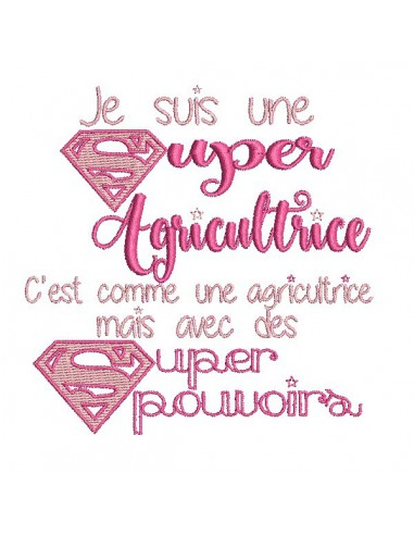 Motif de broderie super agricultrice