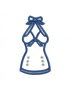 Instant download machine embroidery design sailor knotted bustier