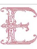 Motif de broderie monogramme point de croix