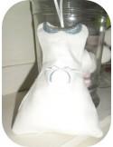 Motif de broderie machine robe col claudine ITH