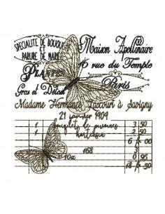 Motif de broderie machine papillon