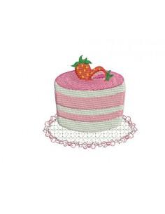 Embroidery design cake
