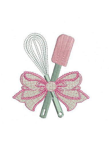 Instant download machine embroidery whip and spatula applique