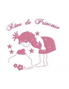 Motif de broderie rêve de princesse