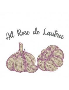 Instant download machine embroidery garlic