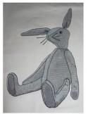 Lapin doudou 18x30 cm