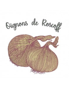 Instant download machine embroidery garlic
