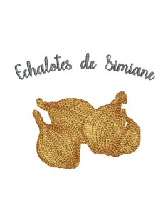 Instant download machine embroidery shallot