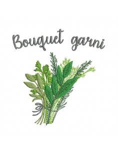 Instant download machine embroidery bouquet garni
