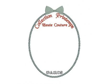 motif de broderie cadre haute couture