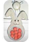 Motif de broderie machine lapin  ITH pour bonbons