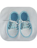 Instant download machine embroidery design   sneakers