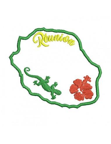 Motif de broderie machine  la Réunion en appliqué