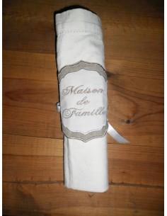 motif de broderie rond de serviette ITH