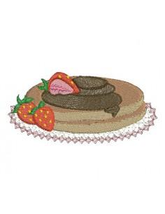 motif de broderie pancake