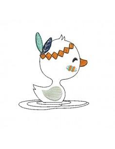 Motif de broderie machine petit canard indien