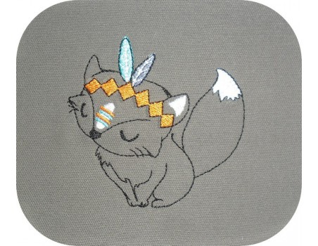 Instant download machine embroidery  Indian duck