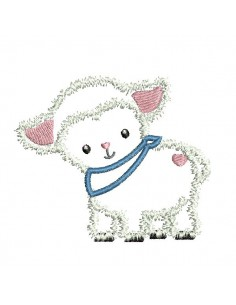 Motif de broderie machine  agneau  appliqué