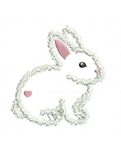 Instant download machine embroidery bunny applique