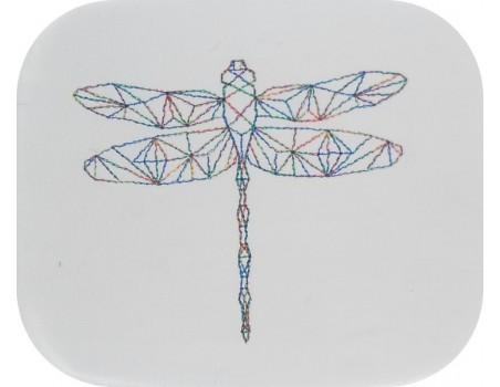 Motif de broderie machine libellule origami