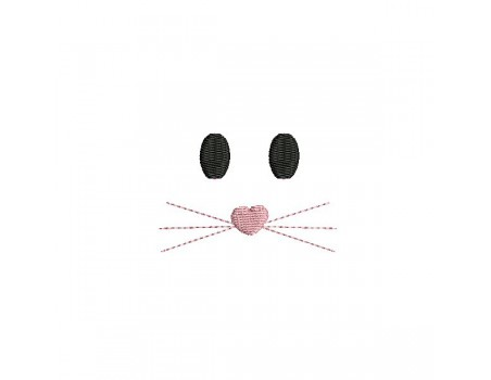 Instant download machine embroidery face cloud