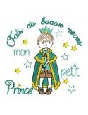 Embroidery design frame  princess