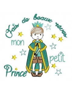 Embroidery design frame  princess