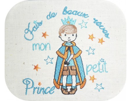 Motif de broderie machine prince