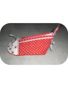 Motif de broderie machine trousse chaussure  ITH
