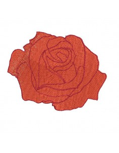 Motif de broderie machine rose