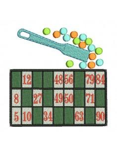 Motif de broderie machine jeu de  loto