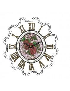 Motif de broderie machine horloge