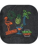 Instant download machine embroidery design flamingos tropical vibes with mylar