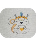 Instant download machine embroidery  indian squirrel