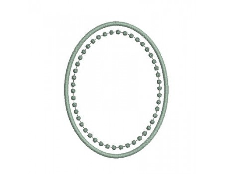 motif de broderie cadre ovale