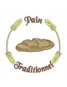 Motif de broderie machine  pain traditionnel